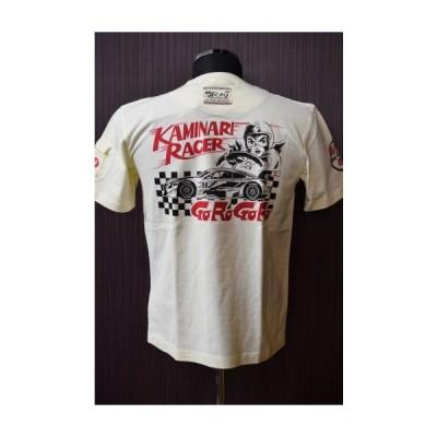 カミナリ SALE 20% off KMT-98 Tシャツ 「KAMINARI RACER 」 ホワイト
