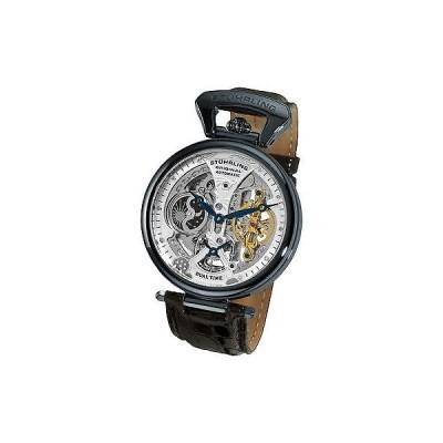 海外セレクション 腕時計 Stuhrling 127A2 33X52 メンズ Emperor Grand DT Mechanical スケルトン デュアルタイム 腕時計