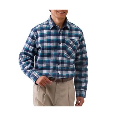送料無料「秋冬 裏フリースあったかボンディングシャツ(同サイズ2色組) カジュアルシャツ メンズ 紳士服 シニア 男性 レッド ネイビー」 p20897