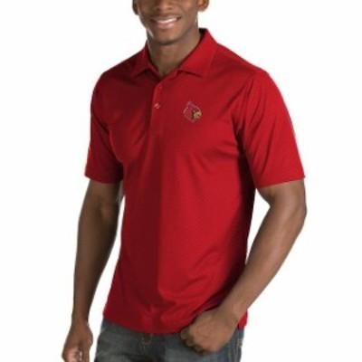 Antigua アンティグア スポーツ用品  Antigua Louisville Cardinals Red Inspire Diamond Pattern Desert Dry Polo