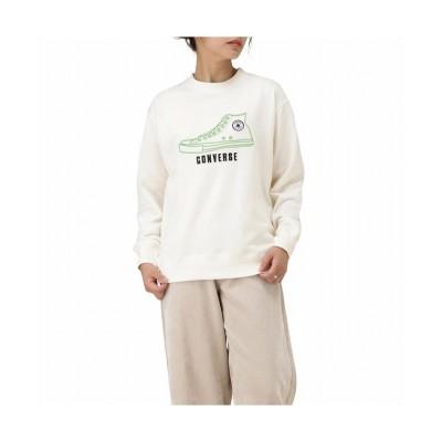 【マックハウス】 CONVERSE コンバース 厚盛刺繍プルオーバー 0482-4945 レディース ホワイト L MAC HOUSE