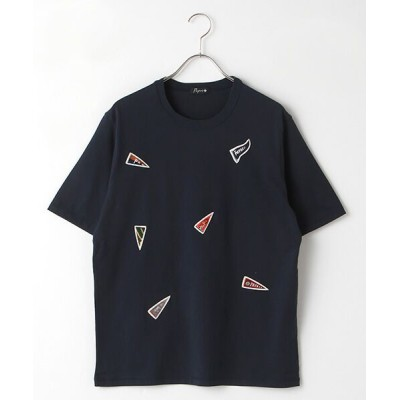 PAPAS/パパス ワッペンTシャツ ネイビー M