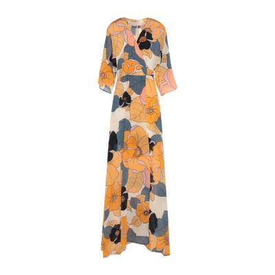 KITAGI® ロングワンピース&ドレス あんず色 40 シルク 100% ロングワンピース&ドレス