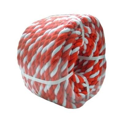 紅白ロープ 約12mm経x50m 丸巻パック