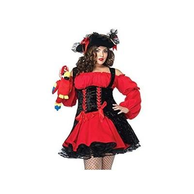 Leg Avenue Women's Plus Size Vixen Pirate Wench with Velvet Double lace up