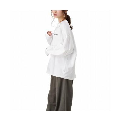 【マックハウス】 CONVERSE コンバース アートバックプリント2ロングスリーブTシャツ 1182-6810-1 レディース ホワイト M MAC HOUSE