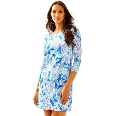 ワンピース リリーピュリッツァー Lilly Pulitzer UPF 50+ Cotton SOPHIE DRESS Bay Blue Pink Into the Deep S