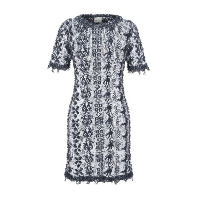 VIKI-AND ミニワンピース&ドレス ブルーグレー 40 コットン 64% / ナイロン 36% ミニワンピース&ドレス