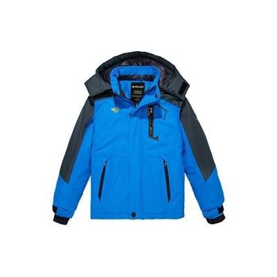 Wantdo 男の子用 防水 スキー フリース ジャケット 厚手 冬用コート フード付きレインコート US サイズ: 10-