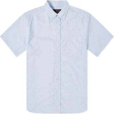 ビームス プラス Beams Plus メンズ 半袖シャツ ワイシャツ トップス Short Sleeve Button Down COOLMAX Oxford Shirt Blue