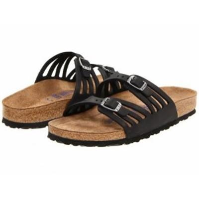 Birkenstock ビルケンシュトック レディース 女性用 シューズ 靴 サンダル Granada Soft Footbed Black Oiled Leather【送料無料】