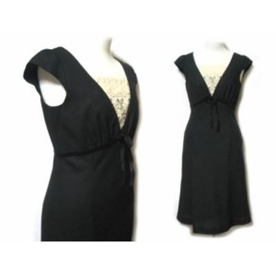MELROSE 黒フェミニンレースドレスワンピース (black feminine lace dress one-piece) メルローズ 049055【中古】