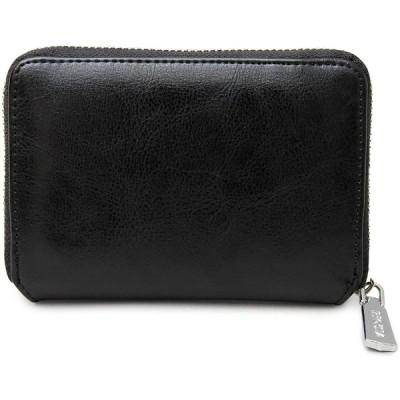 [レジスタ] レザー ビルフォードウォレット ラウンドファスナー 二つ折り財布 ボックス型小銭入れ ブラック