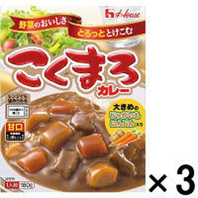 ハウス食品ハウス食品 レトルトこくまろカレー 甘口 1セット(3個) レンジ対応