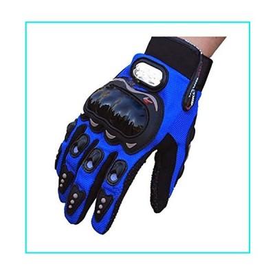 Evaliana Men's Motocross Cycling Motorcycle Motorbike Riding Racing Gloves Full Finger  Blue  Large【並行輸入品】