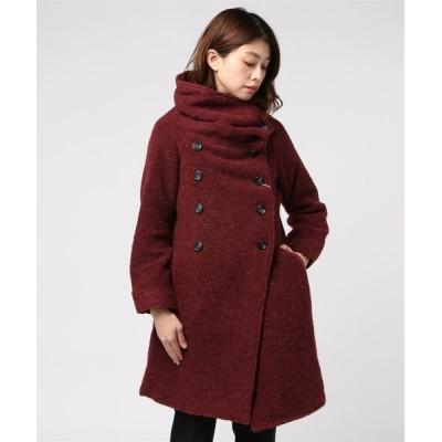 THE MORNING AFTER / [ ZAMPA ] タック衿 ラグランスリーブ ロングコート WOMEN ジャケット/アウター > ステンカラーコート