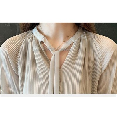 ブラウス レディース きれいめ 40代 春 夏 上品 ブラウス シャツ シフォン トップス 七分袖 ゆったり オシャレ 韓国風 大人 シャツ 30代 50代