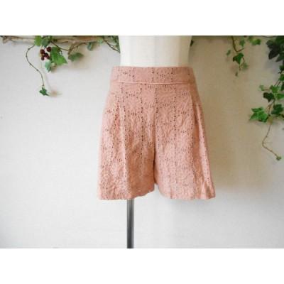 フェルゥ Feroux カットワーク刺繍 の 可愛い ショート パンツ 2