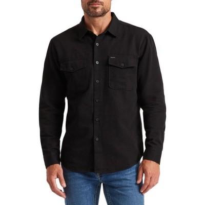 ブリクストン BRIXTON メンズ シャツ トップス Davis Reserve Button-Up Shirt Black