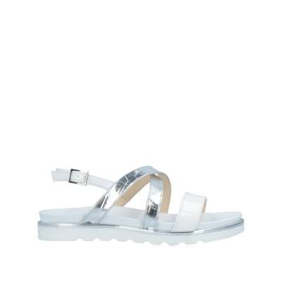 NU NÙ サンダル ホワイト 37 紡績繊維 サンダル