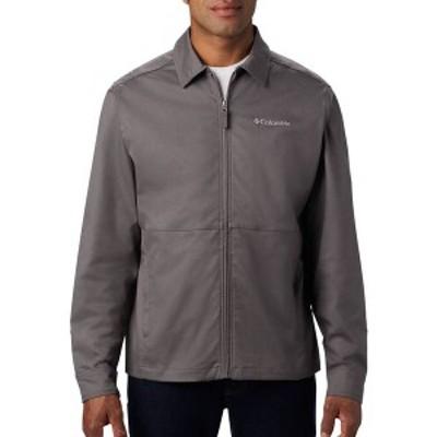 コロンビア メンズ ジャケット・ブルゾン アウター Columbia Men's Bonpas Valley Jacket City Grey