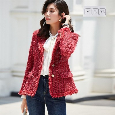 テーラード 大人気 ジャケット レディース ブレザー ジャケット スーツ ファション ゆったり 女性用 通勤 大きいサイズ
