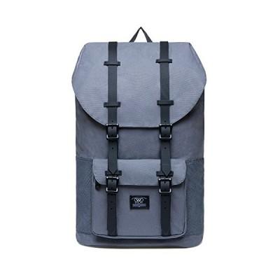 Laptop Outdoor Backpack College Schoolbag Bookbag Travel Hiking Rucksack fits 15-Inch Laptop by KAUKKO (grey003)【並行輸入品】