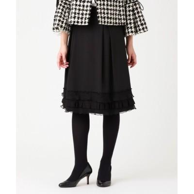 TO BE CHIC / ポリエステルレーヨングログランスカート WOMEN スカート > スカート