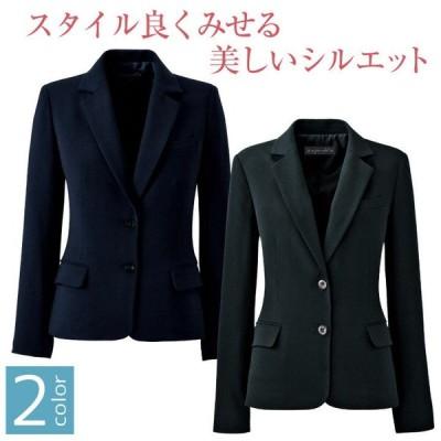 ジャケット スーツ レディース アンジョア enjoie ブラック 事務服 制服 仕事服 受付 接客業 オフィス jo-81415