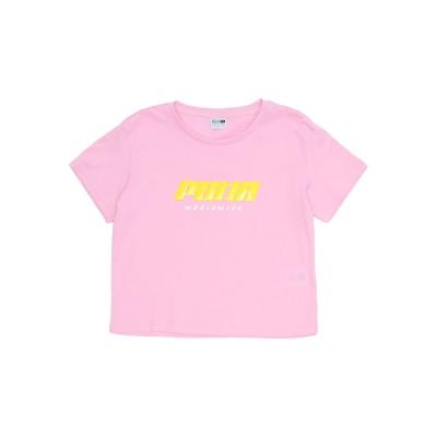 プーマ PUMA T シャツ ピンク 4 コットン 100% T シャツ