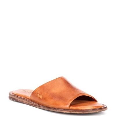 ベッドステュ レディース サンダル シューズ Kate Tanned Leather Flat Slide Sandals