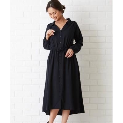 【Green Parks】・スキッパーワンピース (ワンピース)Dress
