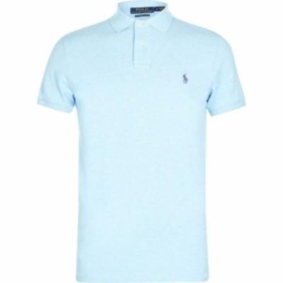 ラルフ ローレン Polo Ralph Lauren メンズ ポロシャツ トップス Custom Slim Fit Polo Watchhill Blue