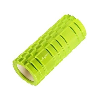 Anyasun フォームローラー グリッドフォームローラー 筋膜リリース ヨガポール トレーニング スポーツ フィットネス (C02 グリーン)