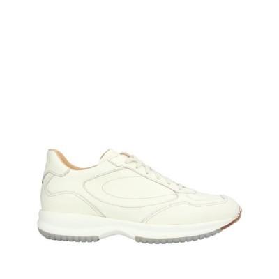 SANTONI スニーカー  メンズファッション  メンズシューズ、紳士靴  スニーカー アイボリー
