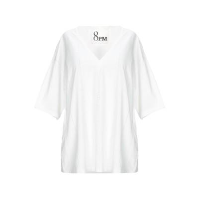 8PM T シャツ ホワイト XXS コットン 100% T シャツ