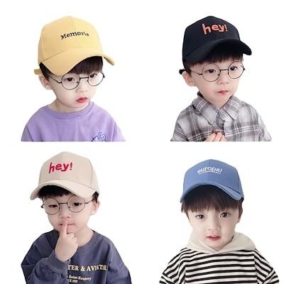 春と秋の子供の帽子薄い男の子と女の子の野球帽のキャップ夏の子供たちの赤ちゃんの日よけ帽の日よけ帽の潮