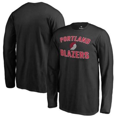 キッズ スポーツリーグ バスケットボール Portland Trail Blazers Youth Victory Arch Long Sleeve T-Shirt - Black Tシャツ