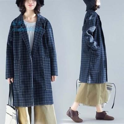 レディース カジュアル ロングコート ゆったり コート 前開き ファッション ロング丈 レディース 羽織 デニム