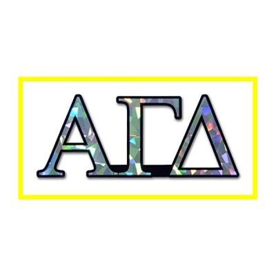 Alpha Gamma Delta Sorority Reflective Decal ステッカー