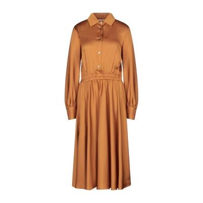 SHIRTAPORTER 7分丈ワンピース・ドレス キャメル 40 ポリエステル 100% 7分丈ワンピース・ドレス