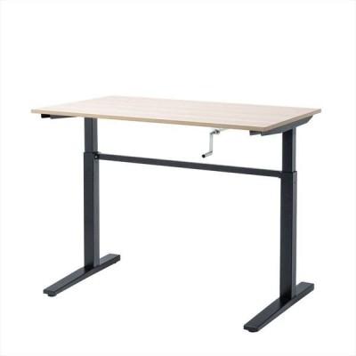 サンワサプライ 手動昇降ミーティングデスク ハイテーブル 幅1200×奥行700×高さ715〜1125mm 木目 ERD-SH12070LMN 1台(直送品)