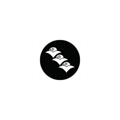 家紋シール 花房雁金紋 直径10cm 丸型 白紋 2枚セット KS10M-0311W