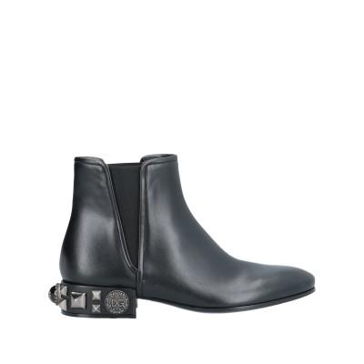ドルチェ & ガッバーナ DOLCE & GABBANA ショートブーツ ブラック 36 牛革(カーフ) 49% / ポリエステル 35% / ポリ
