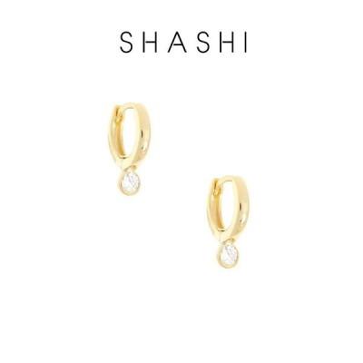 SHASHI シャシ ピアス 2個セット Solitaire Huggie ゴールド アクサセリー イヤリング 誕生日 プレゼント ギフト 贈り物 お祝い パーティー 結婚式 二次会 人気