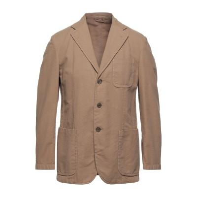 LUBIAM テーラードジャケット キャメル 50 コットン 100% テーラードジャケット