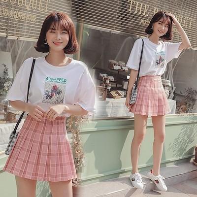 韓国ファッションスカート プリーツスカートレディース ミニスカート テニススカート