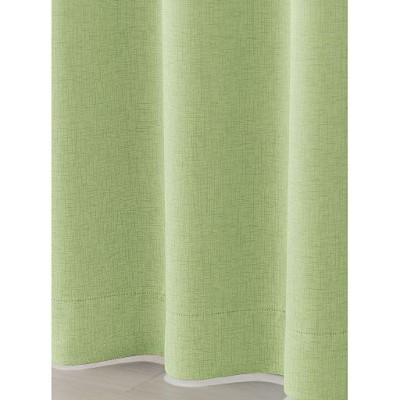 すっきりまとまる防炎1級遮光片開きカーテン(形状記憶加工)/グリーン/幅100×丈90(1枚物)