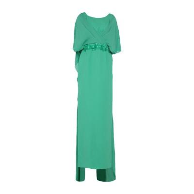 IVAN MONTESI ロングワンピース&ドレス グリーン 40 シルク 96% / ポリウレタン 4% / アセテート / レーヨン ロングワン