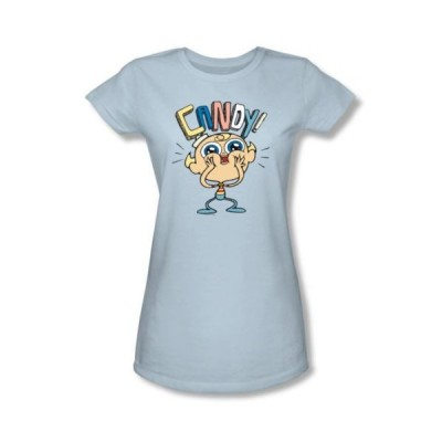 Tシャツ トップス シャツカートゥーンネットワークMarvelous Misadventures Of Flapjack Candy New Cartoon License ジュニア シャツ S-XL